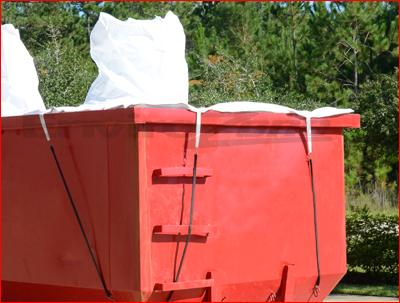 roll off spout bags for hazardous waste